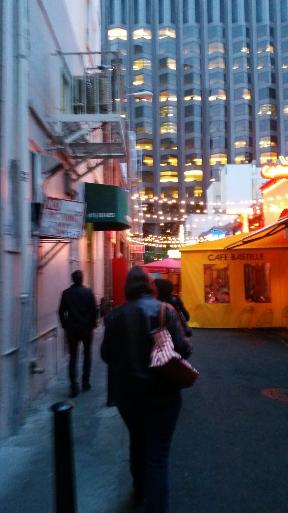 Alley full of restaurants
