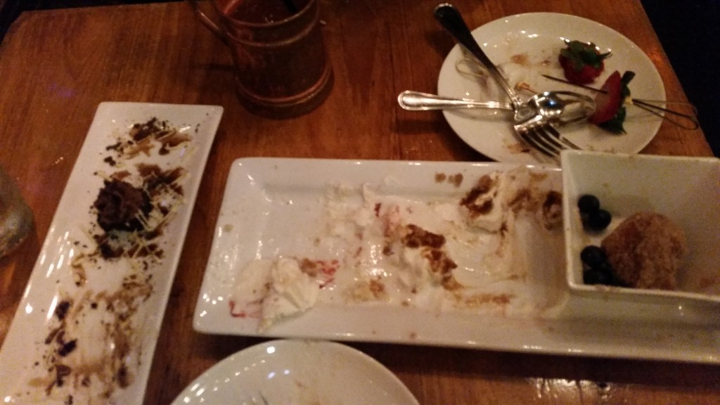 After the dessert sampler